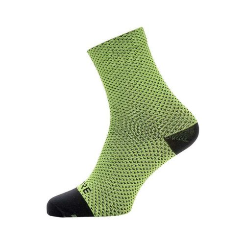 GORE C3 DOT MID SOCKS NEON YELLOW/BLACK 41-43