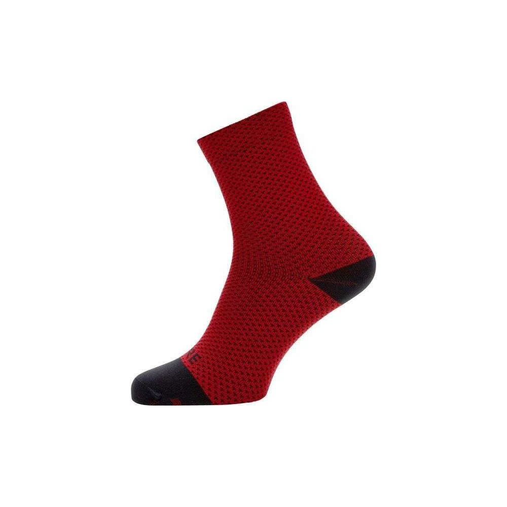 SKARPETKI GORE C3 DOT MID SOCKS RED/BLACK 38-40