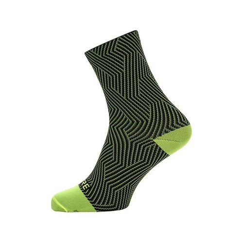 GORE C3 OPTILINE MID SOCKS NEON YELLOWBLACK 38-40