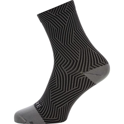 Skarpetki GORE C3 OPTILINE MID SOCKS RED/BLACK 41-43