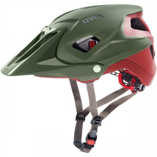 KASK UVEX QUATRO INTEGRALE GREEN RED MAT 56-61