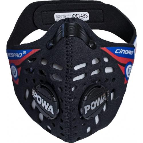 Maska antysmogowa Respro Cinqro Black - rozmiar L W19 CE