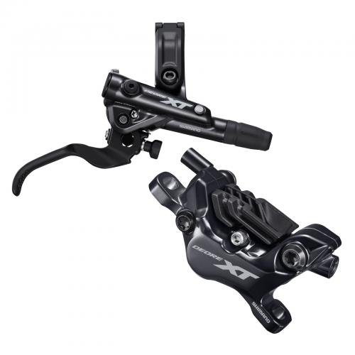 Hamulec hydrauliczny tylny Shimano XT M8120 - Metal + Radiat