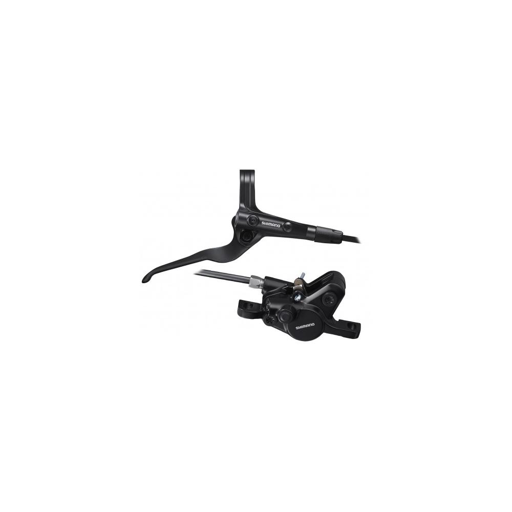 Hamulec hydrauliczny tylny Shimano MT400 - żywiczne