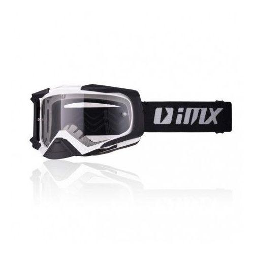 Gogle IMX DUST WHITE/BLACK MATT SZYBA DARK + CLEAR